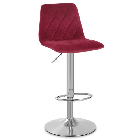 Melody Brushed Stool Red Velvet