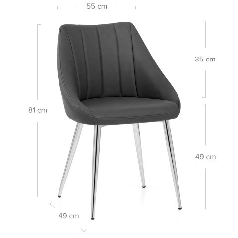 Tempo Dining Chair Charcoal
