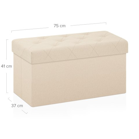 Pandora Foldable Ottoman Cream Fabric