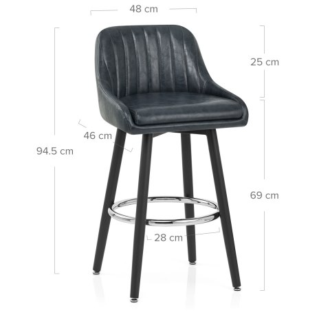 Hamilton Bar Stool Antique Slate