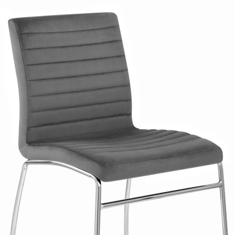 Panache Dining Chair Grey Velvet