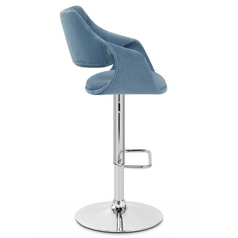 Fairfield Bar Stool Blue Velvet