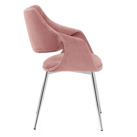 Fairfield Chrome Chair Pink Velvet