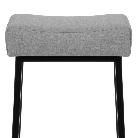 Uno Bar Stool Light Grey Fabric