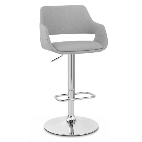 Nuevo Bar Stool Grey Fabric