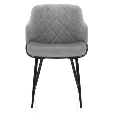 Dakota Dining Chair Grey Velvet