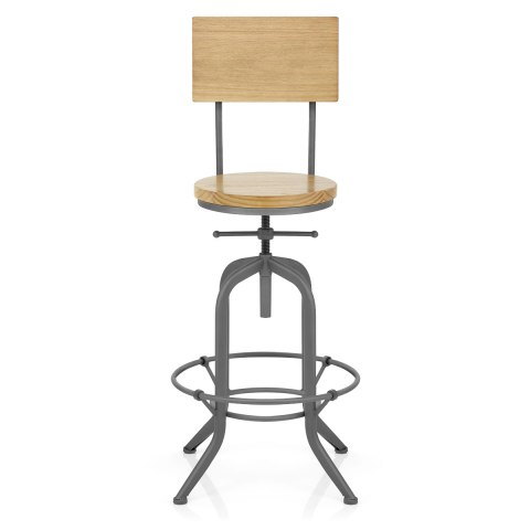 Lathe Wooden Stool Grey