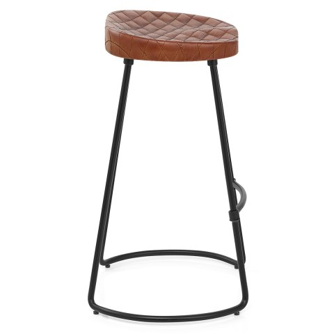 Foundry Industrial Stool Brown Leather