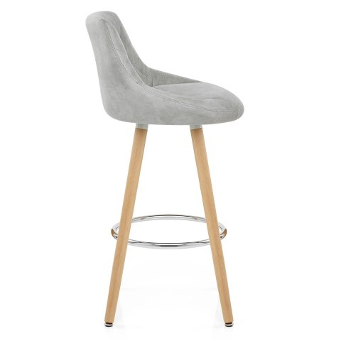 Fuse Wooden Stool Light Grey