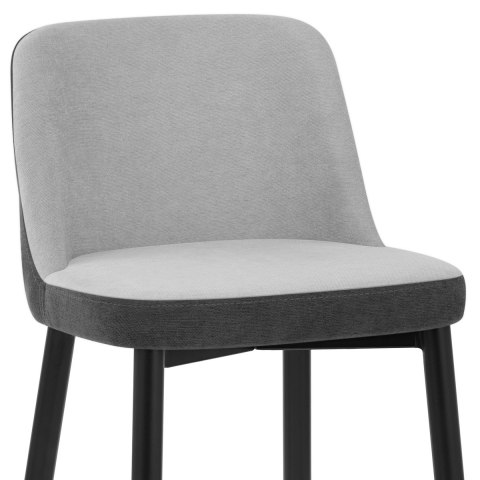 Hudson Stool Charcoal & Grey Fabric