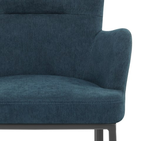 Porter Bar Stool Blue Fabric