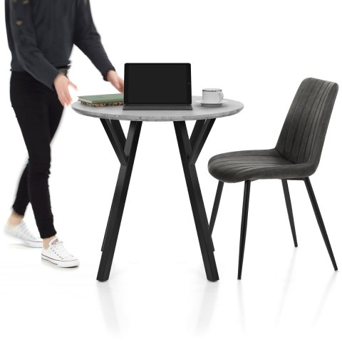 Wessex Dining Set Concrete & Charcoal