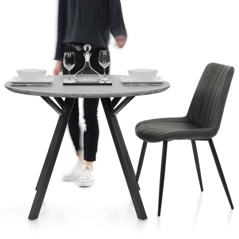 Quest 100cm Dining Table Concrete