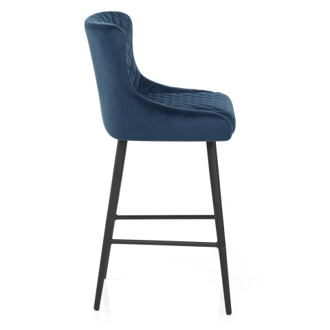 Provence Bar Stool Blue Velvet