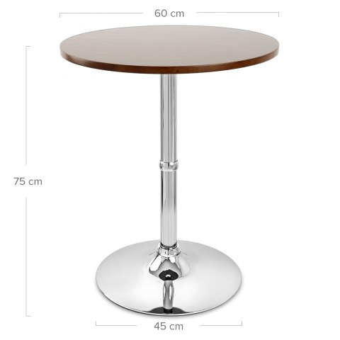 Soho Round Dining Table Walnut