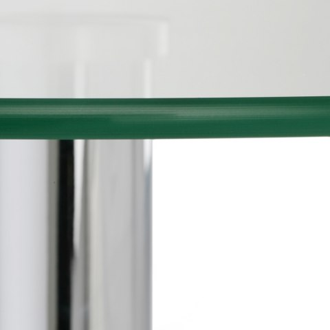 Vetro Stool Table Clear Glass