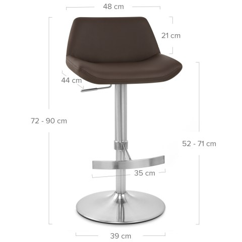 Christiana Brushed Stool Brown