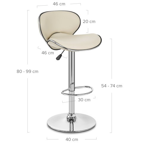 Duo Bar Stool Cream