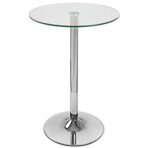 Vetro Stool Table Clear Glass Atlantic Shopping