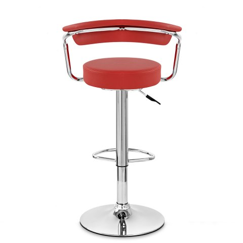 Pluto Bar Stool Red
