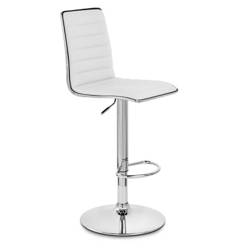 Hiline Bar Stool White