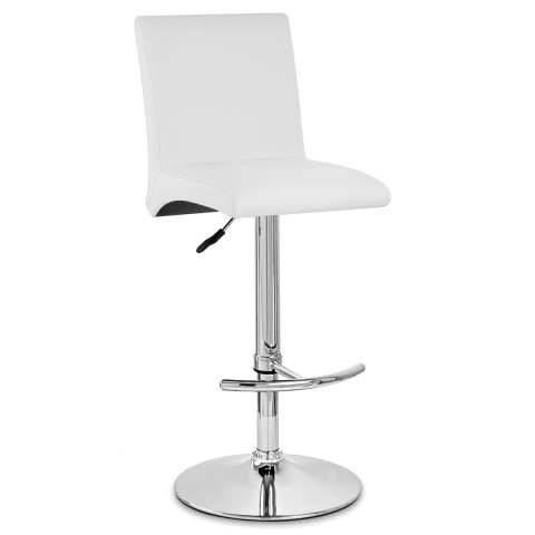 Deluxe High Back Stool White