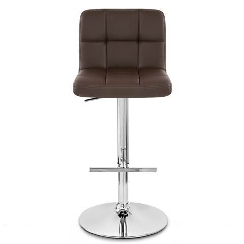 Grid Bar Stool Brown