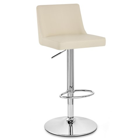 Plaza Chrome Stool Cream