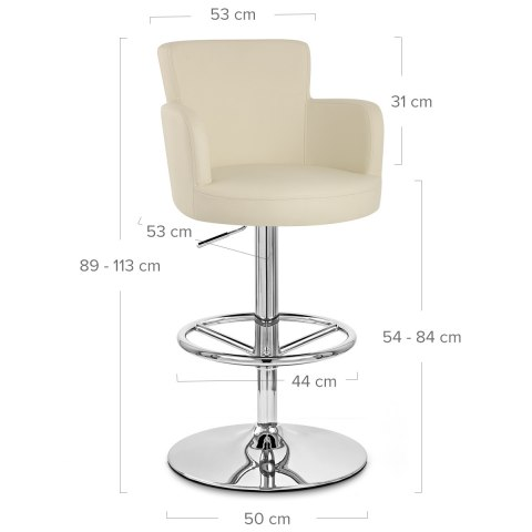 Chateau Bar Stool Cream