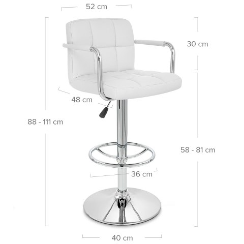 Maze Bar Stool White