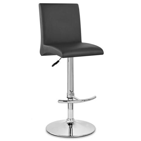 Deluxe high back stool black atlantic shopping - Chaise de bar castorama ...