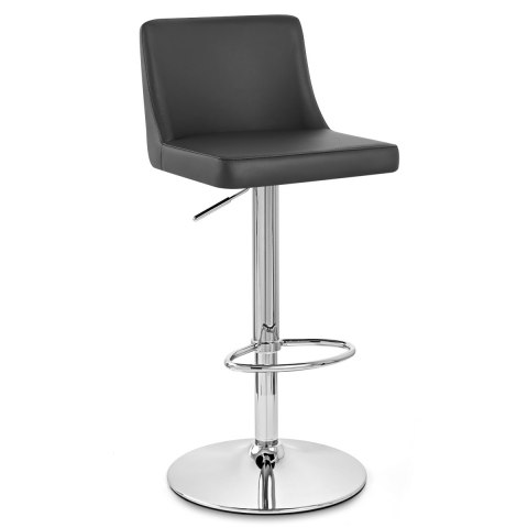 Plaza Chrome Stool Black