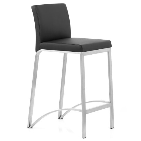 Leah Brushed Stool Black
