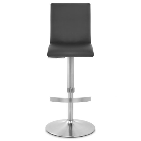 Deluxe Brushed High Back Stool Black