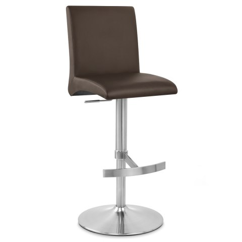 Deluxe Brushed High Back Stool Brown