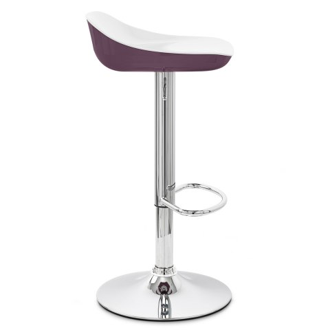 Reflex Bar Stool White & Purple