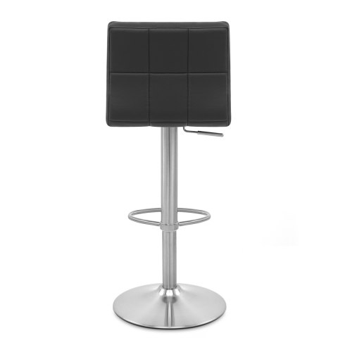 Starz Brushed Real Leather Stool Black