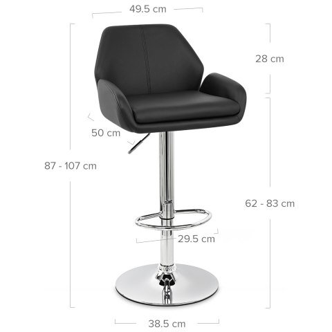 Manhattan Bar Stool Black