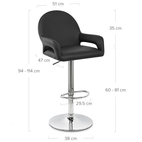 Munich Bar Stool Black