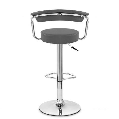 pluto bar stool grey atlantic shopping. Black Bedroom Furniture Sets. Home Design Ideas