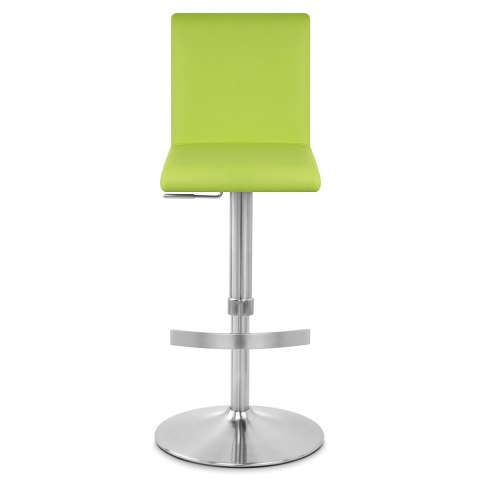 Deluxe Brushed High Back Stool Green