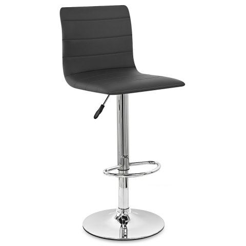 Fabio Real Leather Stool Black