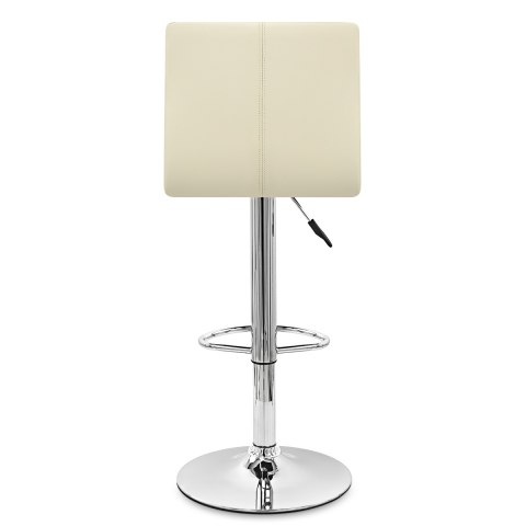 Fabio Real Leather Stool Cream