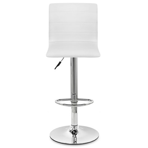Fabio Real Leather Stool White