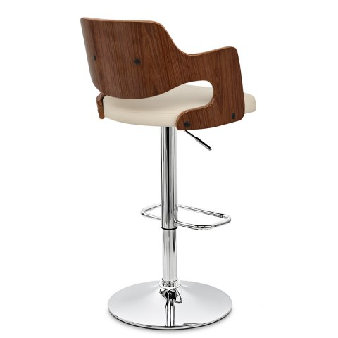 Amazon Walnut Bar Stool Cream Atlantic Shopping