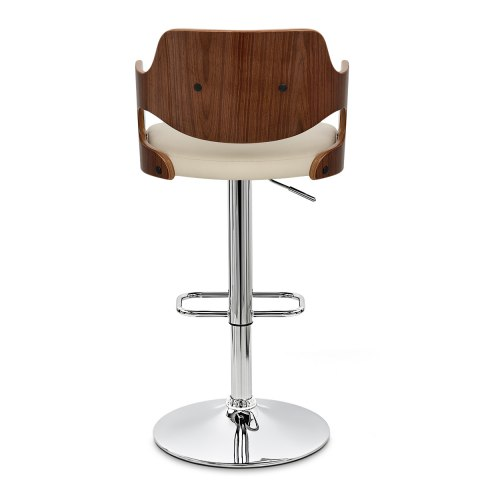 Amazon Walnut Bar Stool Cream