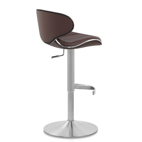 Deluxe Duo Leather Brushed Stool Brown