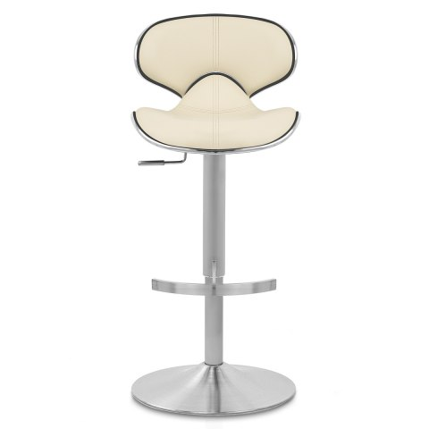 Deluxe Duo Leather Brushed Stool Cream