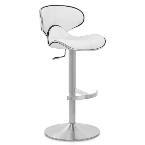 Deluxe Duo Leather Brushed Stool White