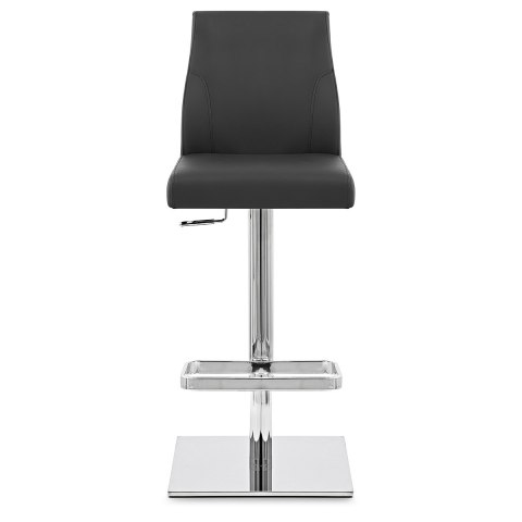 Martello Real Leather Stool Black